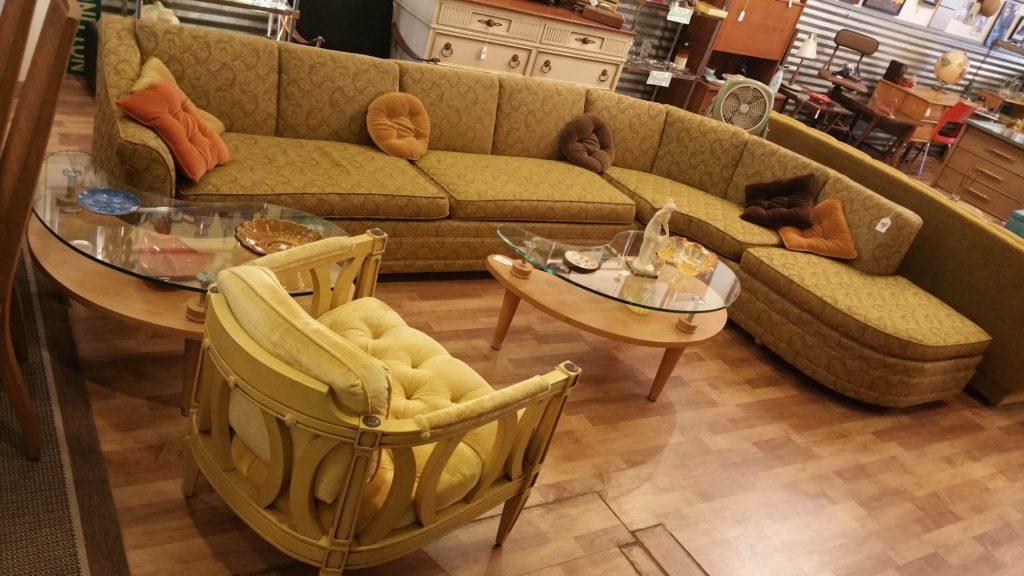 Extra Long MCM Sectional Sofa c 1960