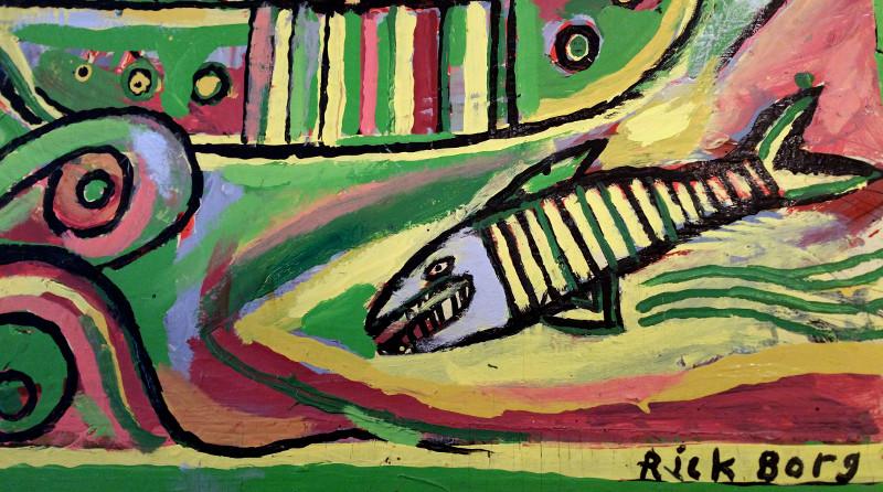 Original Outsider Art Rick Borg Painting