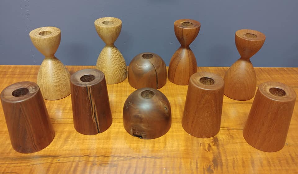 #MCMInspired Hand-crafted wooden Candle Holders by #AlvarDesigns