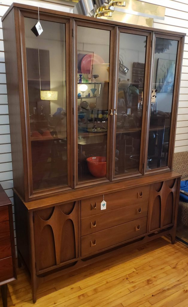 Broyhill Brasilia China Hutch, 2-pc,: SOLD