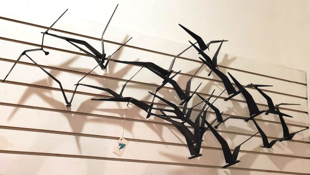 #CurtisJere #BirdsInFlight Sculpture, Signed 1969 SOLD