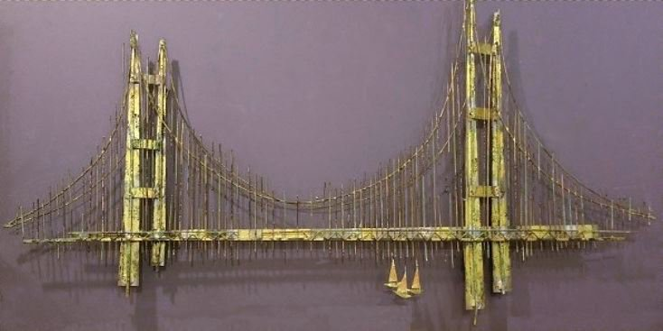 Jere sculpture Signed: 'Golden Gate Bridge'  1970 SOLD