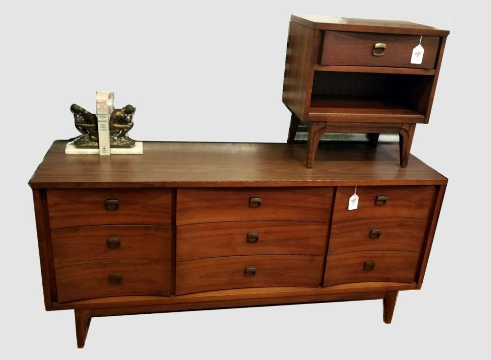Johnson Carper Double Dresser and Night Stand
