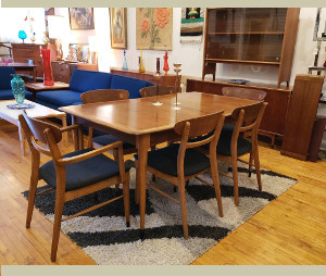 Lane Acclaim Dining Table and Chairs, Credenza