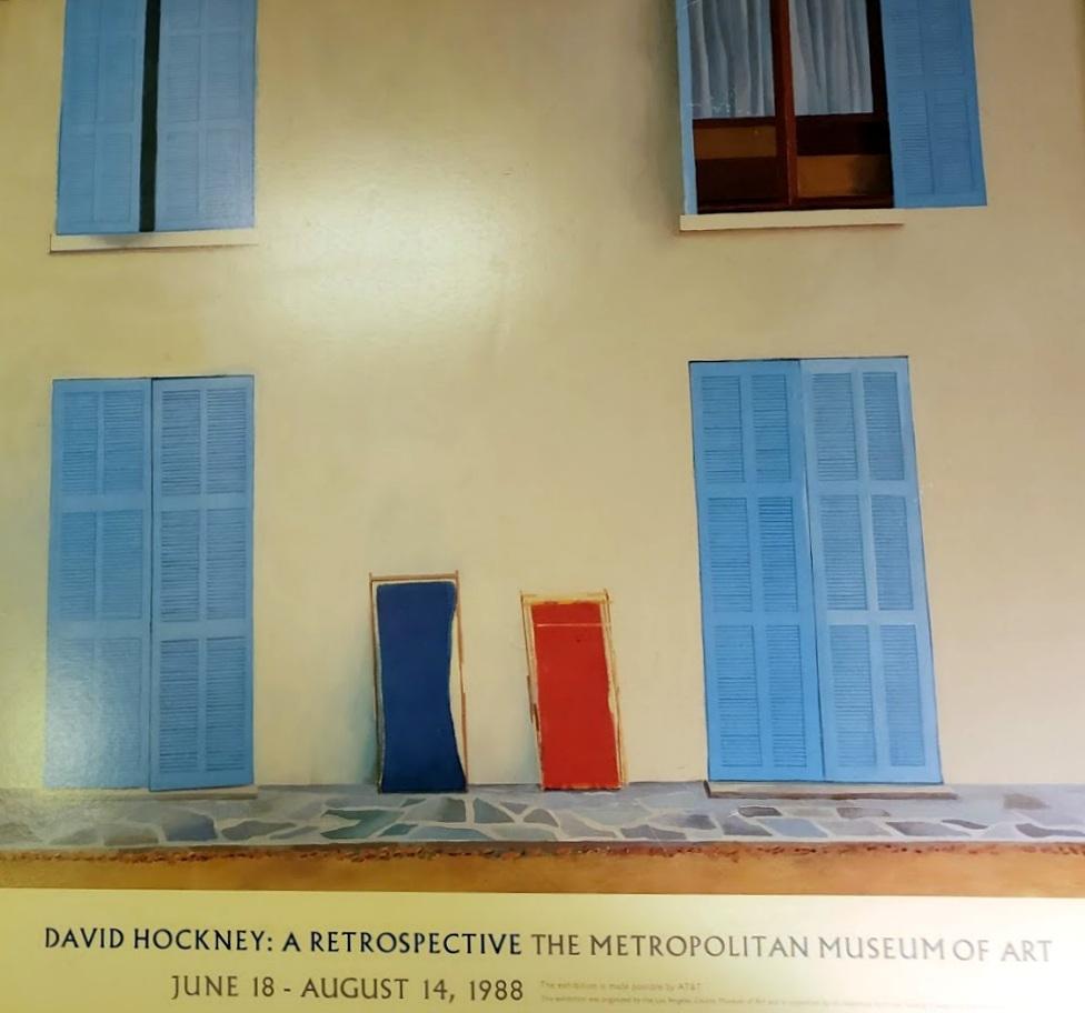 MMA David Hockney 1988 Framed Poster