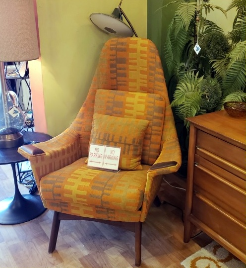 Vintage High-back Adrian Pearsall Armchair