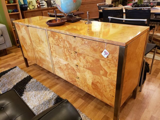 Tomlinson Furniture Burl Wood Credenza