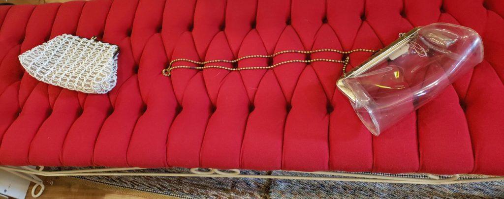 Vintage Lucite Hand Bag & Clutch Purse