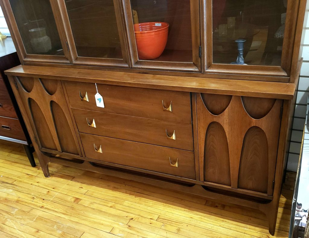 Broyhill Brasilia China Hutch, (Feat. Base w/ 'Arches') SOLD
