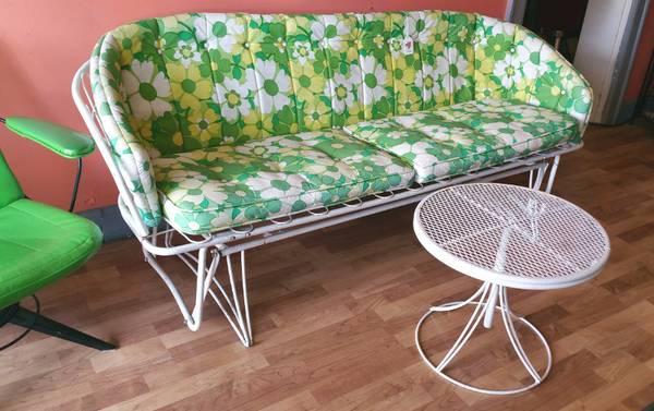 vintage 1960's/70's Homecrest Glider patio