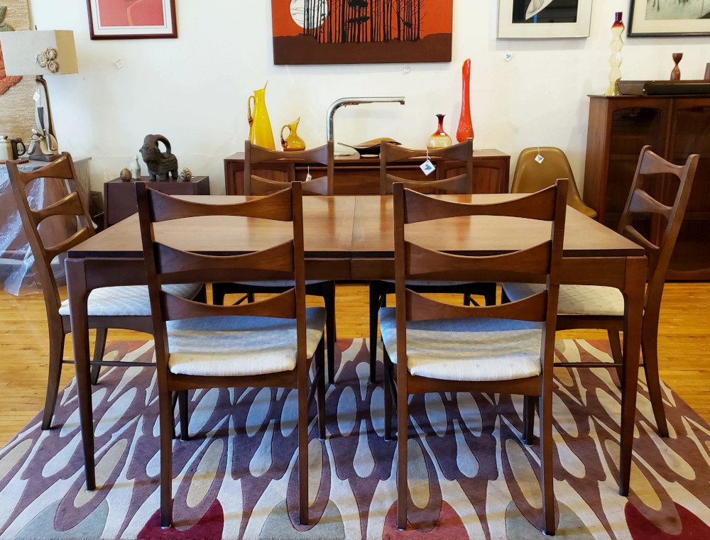 Lane Rhythm Dining Table Set 6 Chairs 2 Leaves SOLD