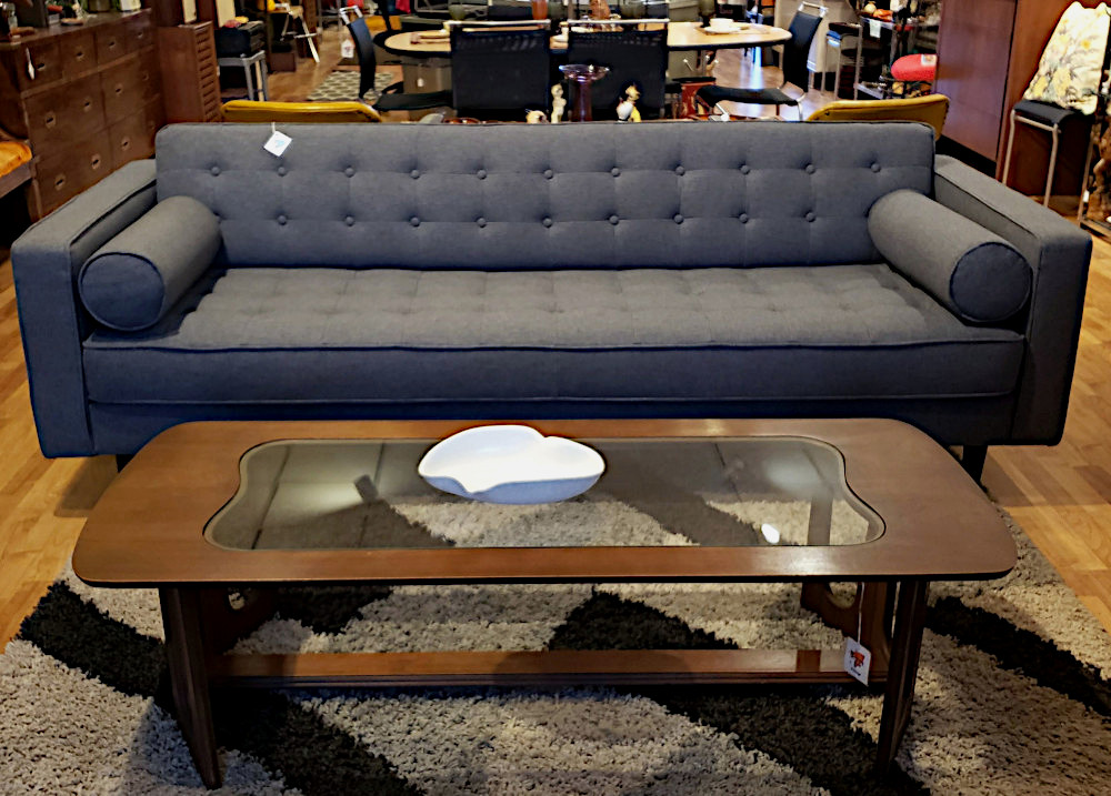 New MCM Inspired Grey Sofa by Sunpan