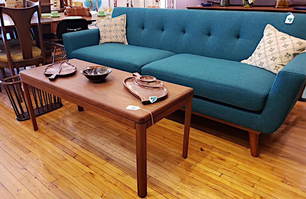 MCM Inspired Turquoise Sofa, New
