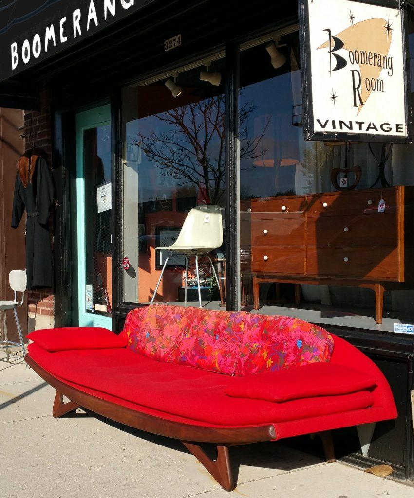 Adrian Pearsall Gondola Sofa w/original cushions